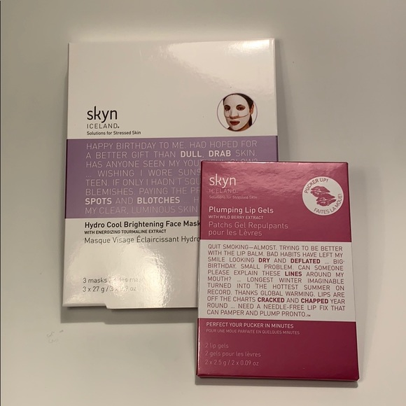 skyn iceland Other - 🆕Skin Iceland hydro cool face mask,lip gels+bonus